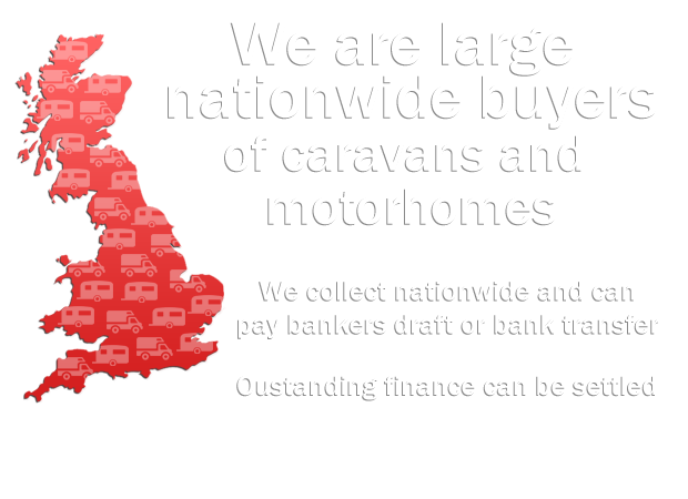 Large nationwide buyers of caravans and motorhomes