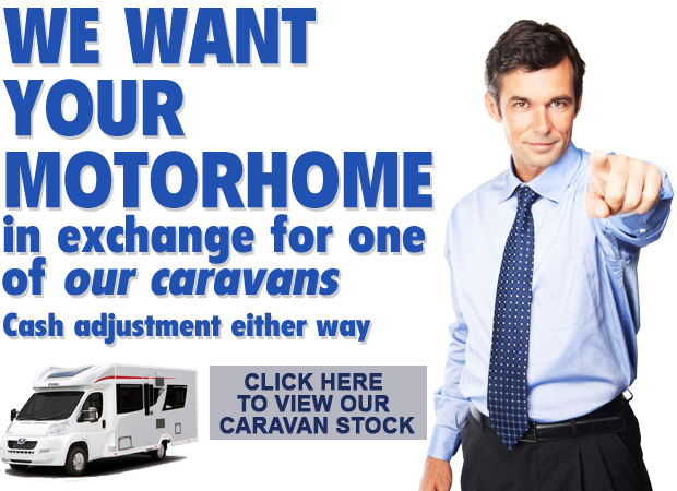 Sell us your motorhome or caravan