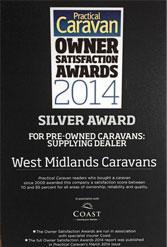 Westmidland Caravans awards 2014
